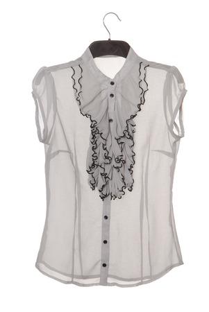 jabot: chiffon blouse with jabot