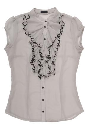 gauzy: chiffon blouse with jabot