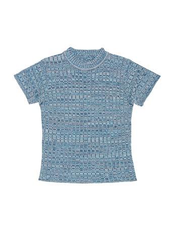 light blue lingerie: knitted blouse Stock Photo