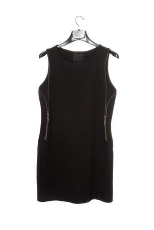 clotheshanger: black sleeveless dress