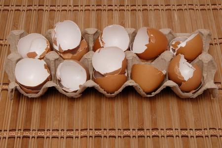 waste material: egg shell