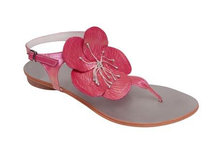 opentoe: leather heel-strap sandal
