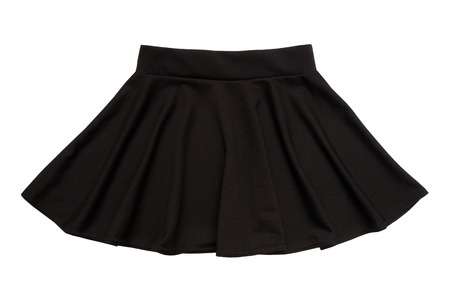 black flared skirt, ubka