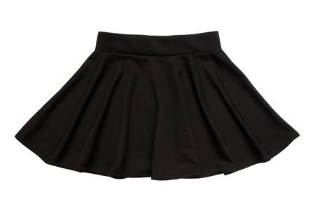 the skirt: black flared skirt, ubka