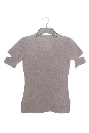 coathanger: gray female blouse Stock Photo