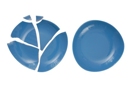 jaded: broken plate and  whole plate