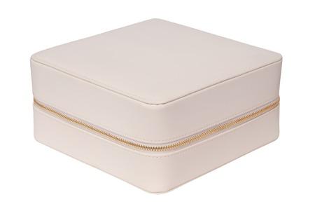 white leather: white leather cosmetics handbag