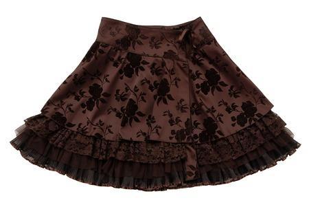 petticoat: brown wraparound skirt Stock Photo