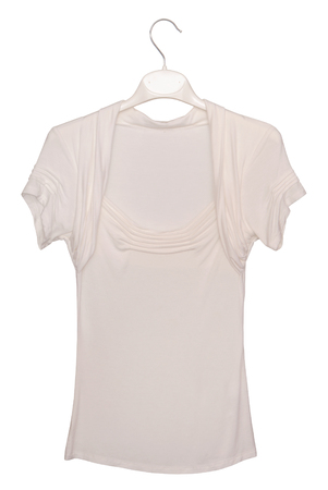clotheshanger: white blouse Stock Photo