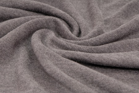 tricot: grey knitted fabric