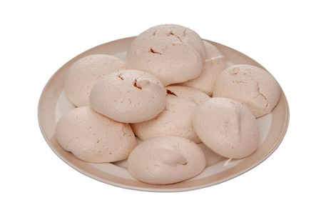 kiss biscuits: homemade  meringue Stock Photo