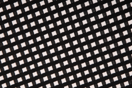tricot: black and white cloth with stockinet texture Stock Photo