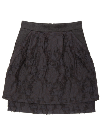 petticoat: black skirt is out of  unusual fabric