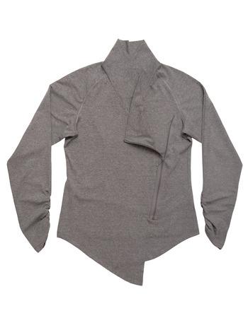 grey sweatshirt with zip