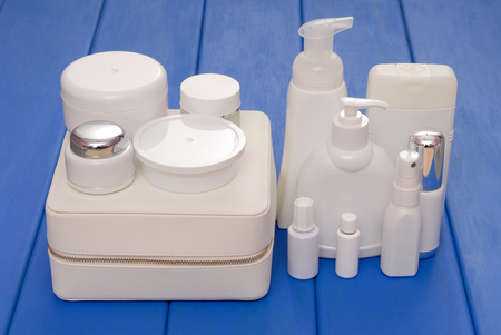 assortiment of cosmetics Stock Photo