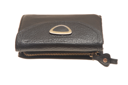unisex: small leather purse with zipper, unisex