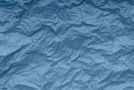 blue paper backgrounds, creative texture, crumpled packaging paper Stock Photo
