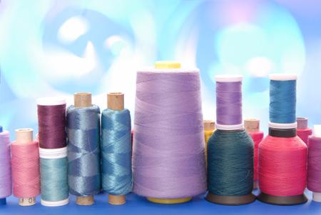 spools of thread, reel of strings, still life of coils,
