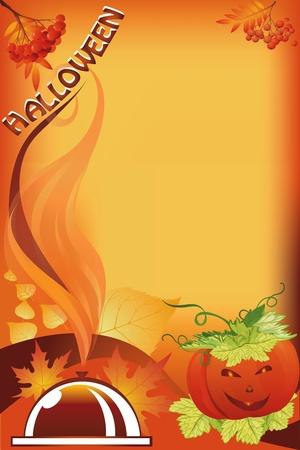foglia: fondo per halloween Illustration