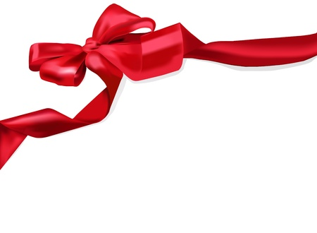 Red ribbon Stock Vector - 12487377