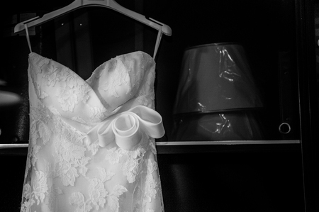 Detail of a Bridal wedding dress