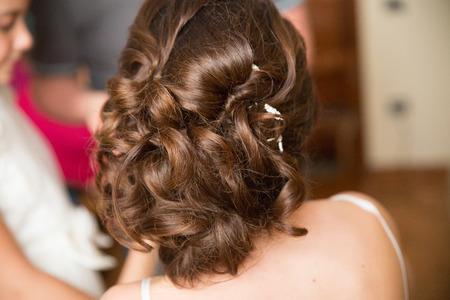 Sesión de maquillaje y peinado de novia