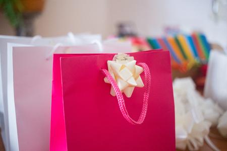 Bags with wedding presents Standard-Bild