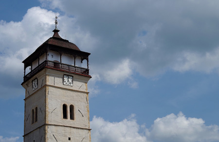 The Town tower, city Roznava, Slovakia  The Town tower was built between 1643 and 1654, in the middle of the square