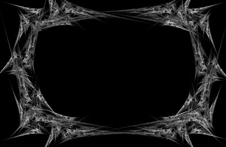 Abstract fractal frame on a black background