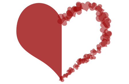 Abstract heart on white background  Stock Photo