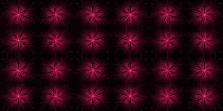 Abstract fractal flower background on black. Stock Photo