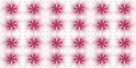 Abstract fractal flower background on white.