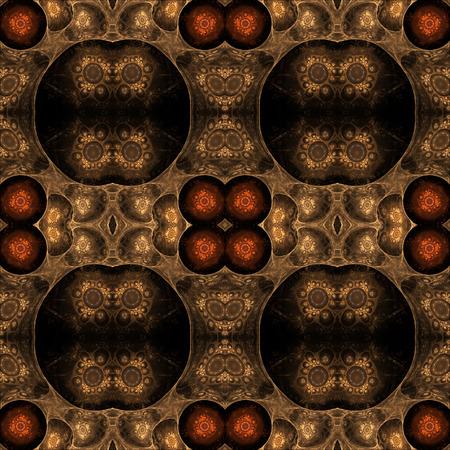 fractals: Fractals seamless texture on black.