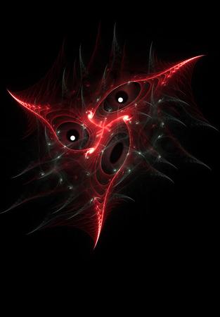 specter: Fractal resembling a head specter on black