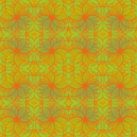 fractals: Fractals seamless texture on yellow.