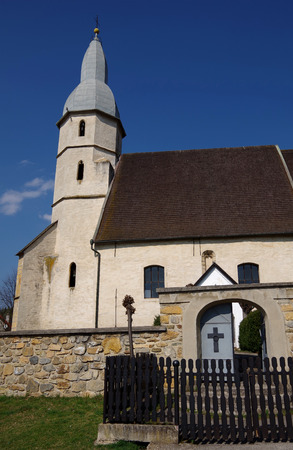 evangelical: Gothic Evangelical church from the 14th century in Kocelovce, near Roznava, Slovakia Stock Photo