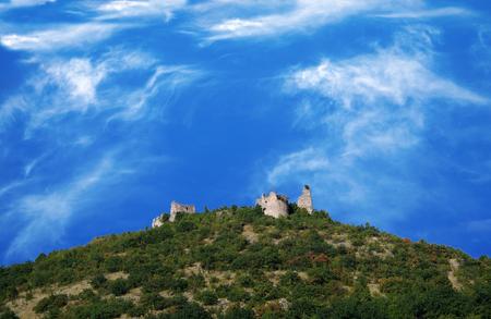 14th century: Turna, castle (ruin), Ruins of the castle from 14th century. Slovakia, Kosice Stock Photo