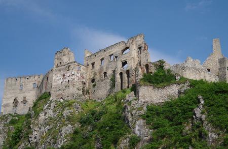 ruin: The gothic Beckov castle ruin in Slovakia