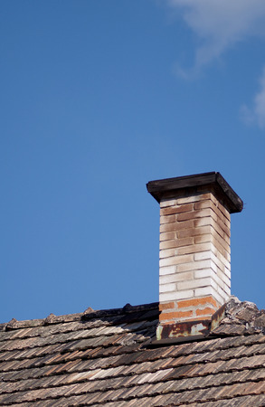 repaired: Repaired an old chimney on the roof of the old.