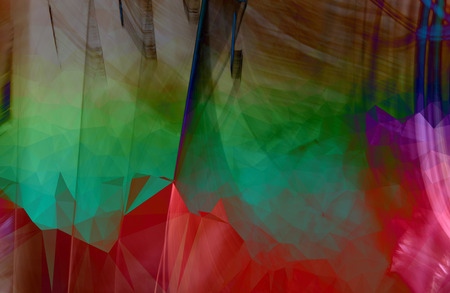 Colorful abstract geometric background with triangular