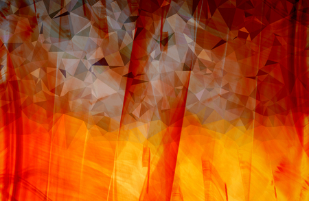 Colorful orange abstract geometric background with triangular