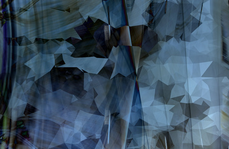 Shades of blue abstract geometric background with triangular