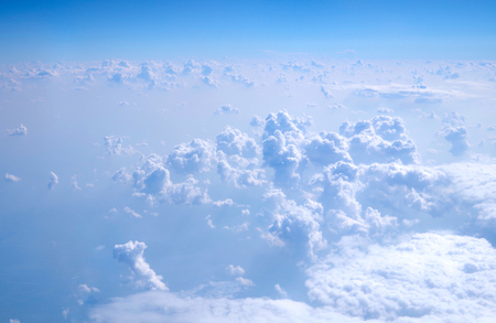 Beautiful clouds in the sky Picture taken from airplane Stock Photo