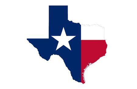 houston flag: Texas Stock Photo