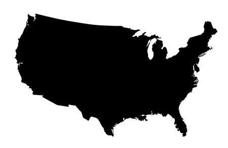 north america map: United States of America