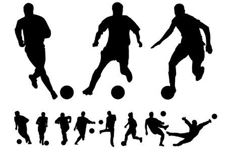 players: Football vectors Illustration