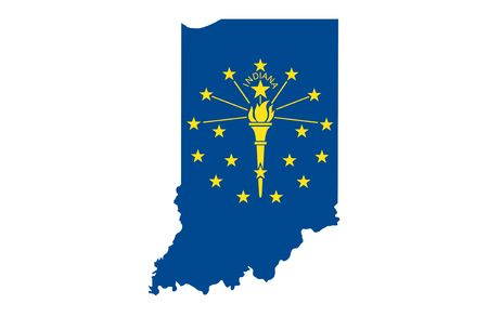 indianapolis: State of Indiana Stock Photo