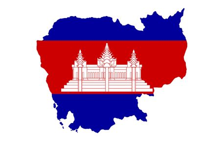 cambodian flag: Kingdom of Cambodia