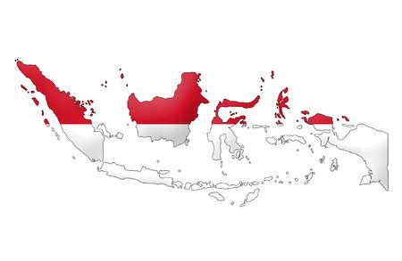 the indonesian flag: Republic of Indonesia