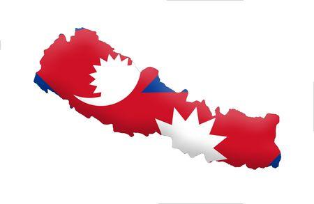 nepali: Federal Democratic Republic of Nepal Stock Photo